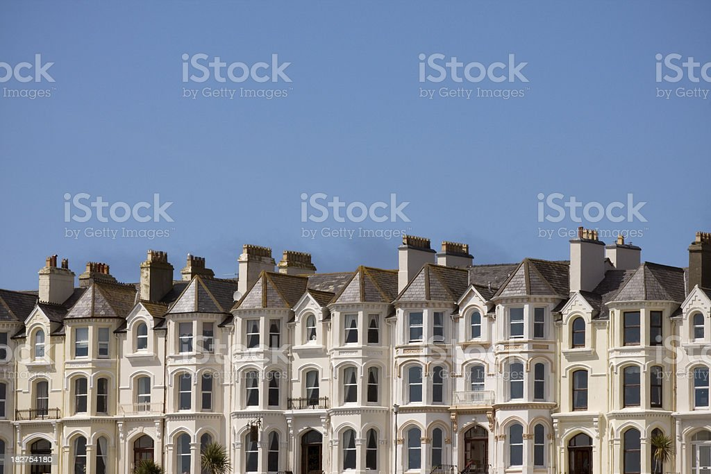 Victorian Terraced Houses royalty-free stock photo