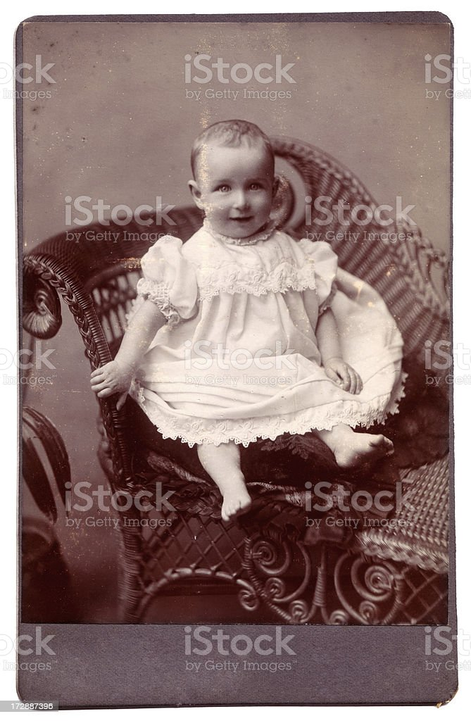 Victorian toddler royalty-free stock photo