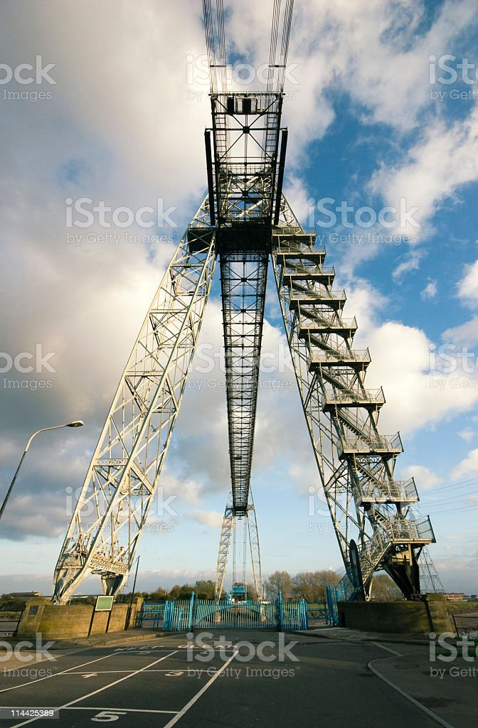 victorian transporter bridge royalty-free stock photo