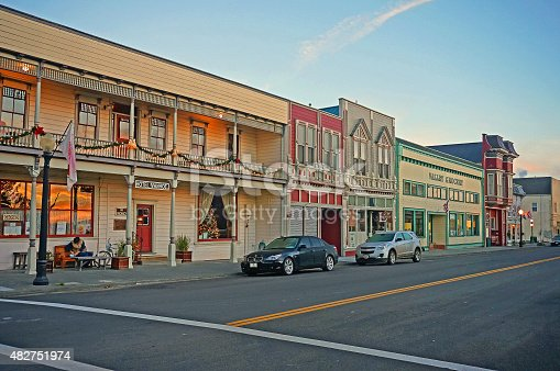 Well-preserved Victorian-era main street of Ferndale, Humboldt County, Redwood Empire (The North Coast of California)