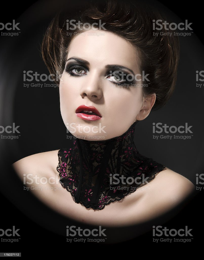 victorian woman royalty-free stock photo
