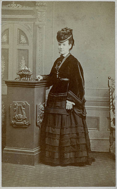 Victorian Woman 1880s Victorian scanned photograph of a woman 1880 stock pictures, royalty-free photos & images