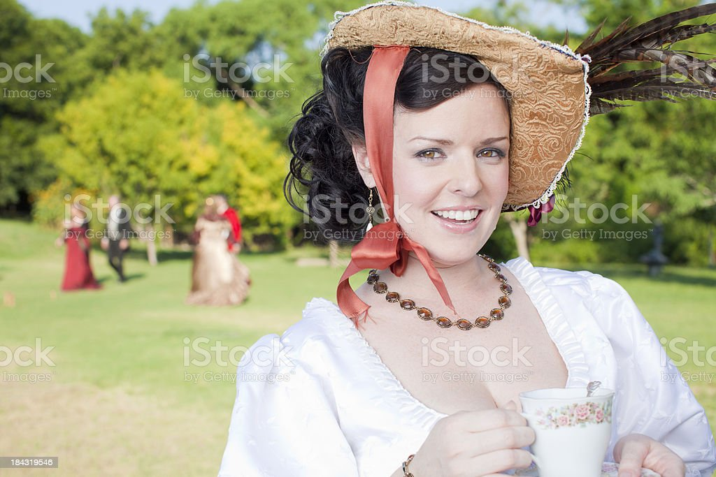 Victorian Women royalty-free stock photo