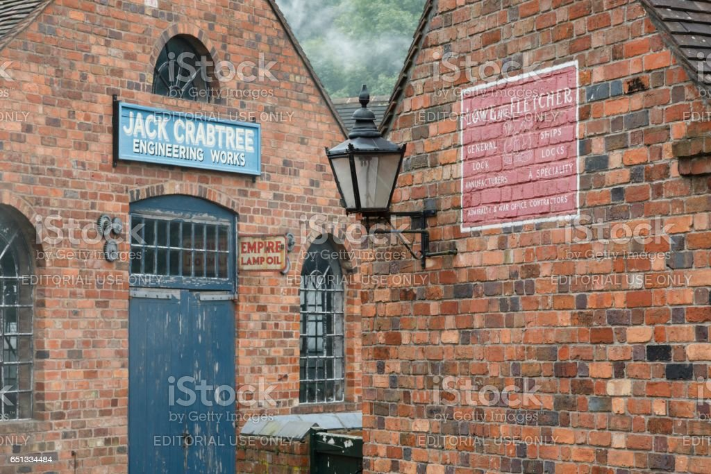 Victorian workshops at Blists Hill stock photo