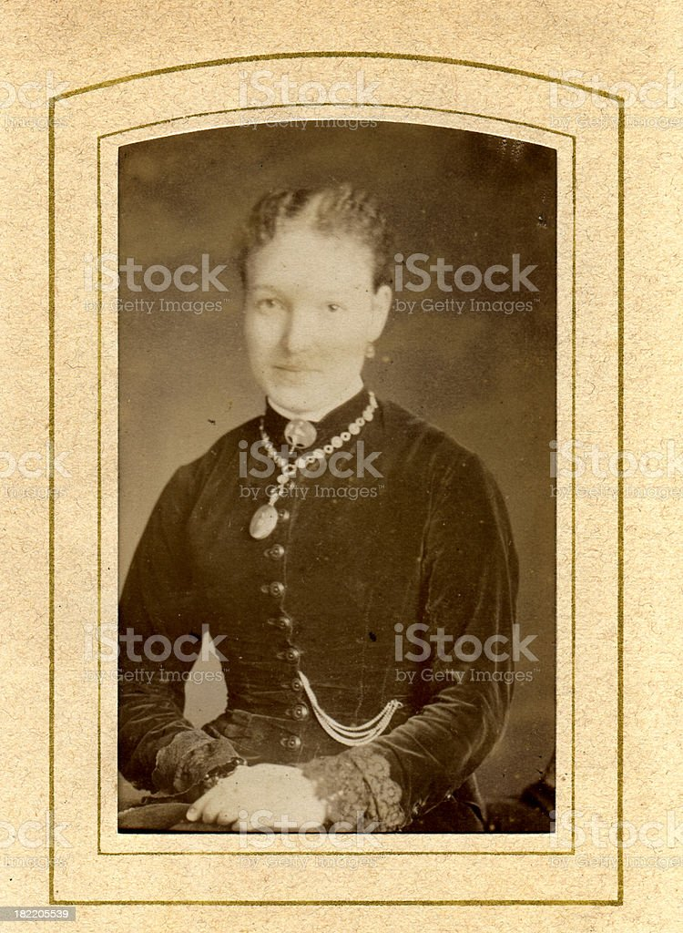 Victorian Young Woman - Old Photograph stock photo