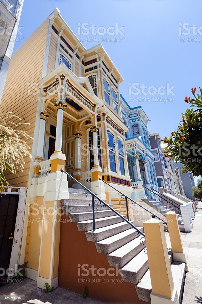 SF Victorians royalty-free stock photo