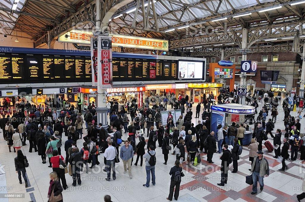 VictoriaTrain Station royalty-free stock photo