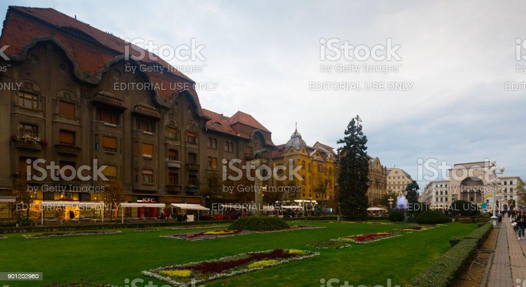 Victoriei Square, Timisoara stock photo