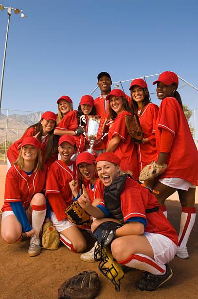 vitorioso softball equipe - softbol esporte - fotografias e filmes do acervo