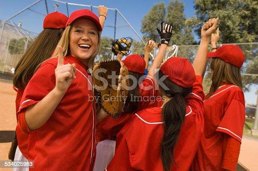 istock Victorious Softball Team 534025983