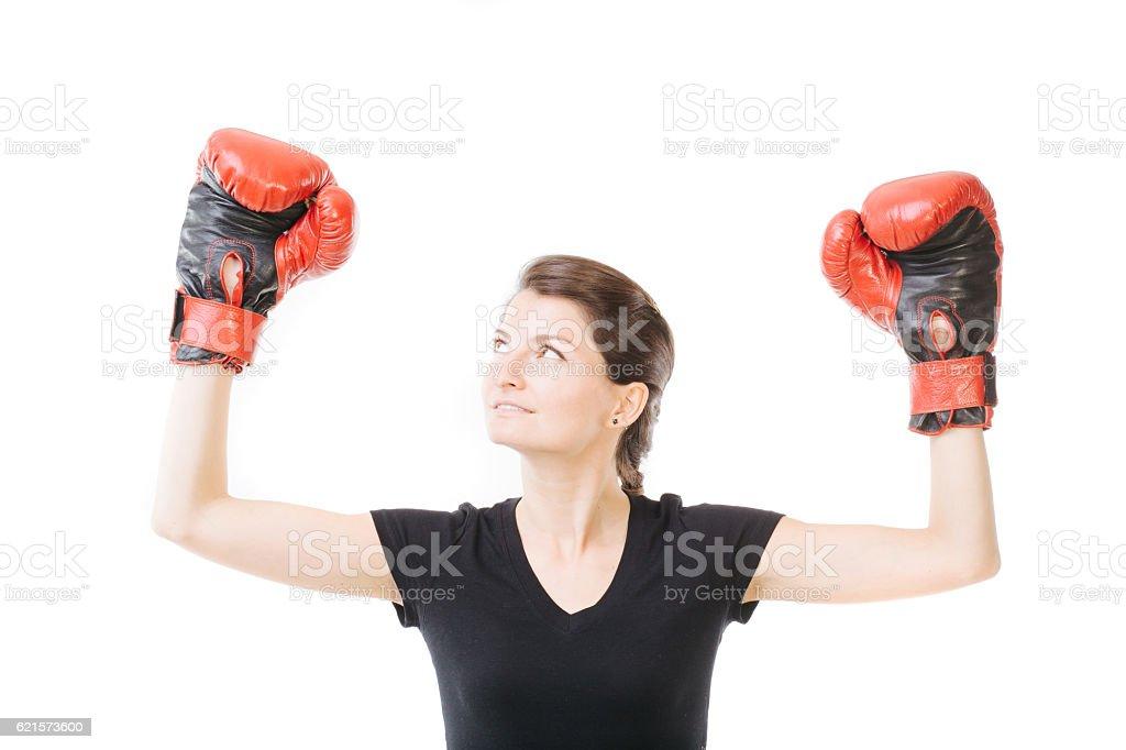 Victorieux femme photo libre de droits
