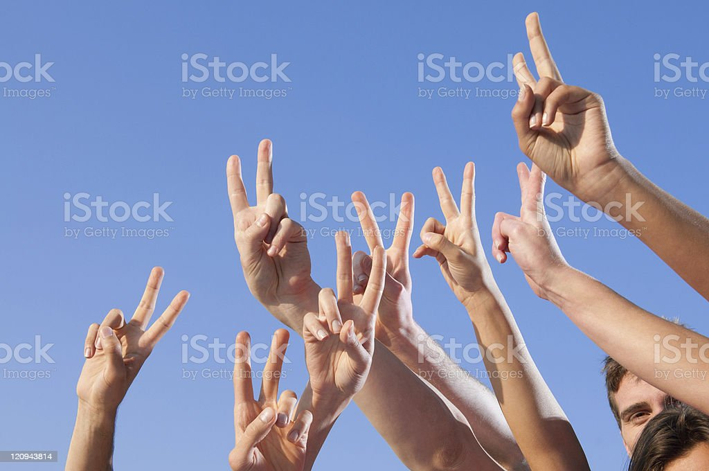 Victory and success royalty-free stock photo