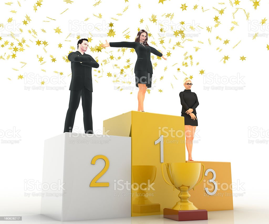 Victory and Triumph royalty-free stock photo
