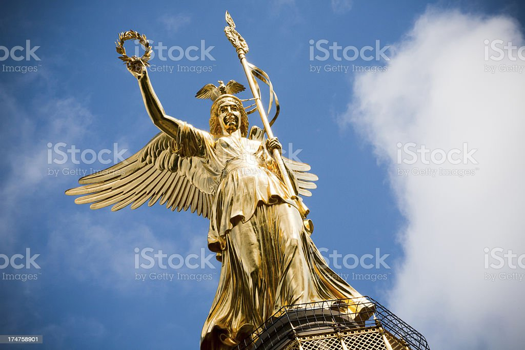 Victory Angel statue. stock photo