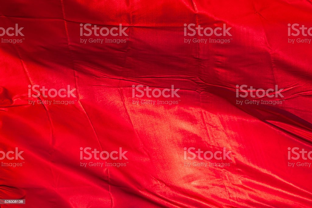 victory banner red fabric on sunhine. background. stock photo