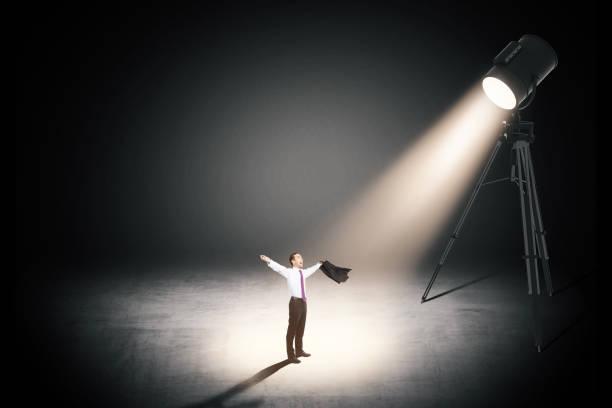 Sieg-Konzept mit fröhlichen Geschäftsmann – Foto