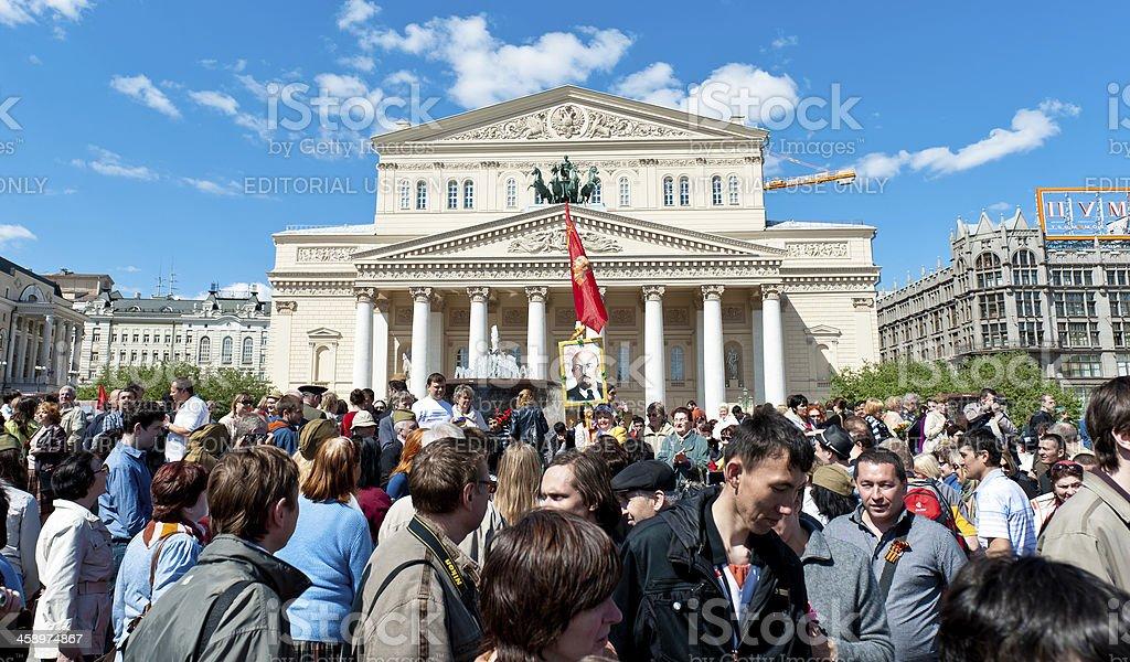 Victory Day at the Bolshoi stock photo