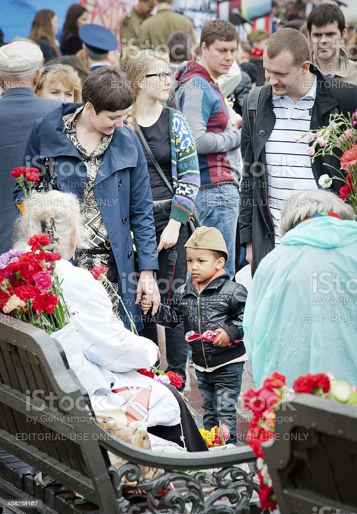 Victory Day Celebration in Moscow royalty-free stock photo