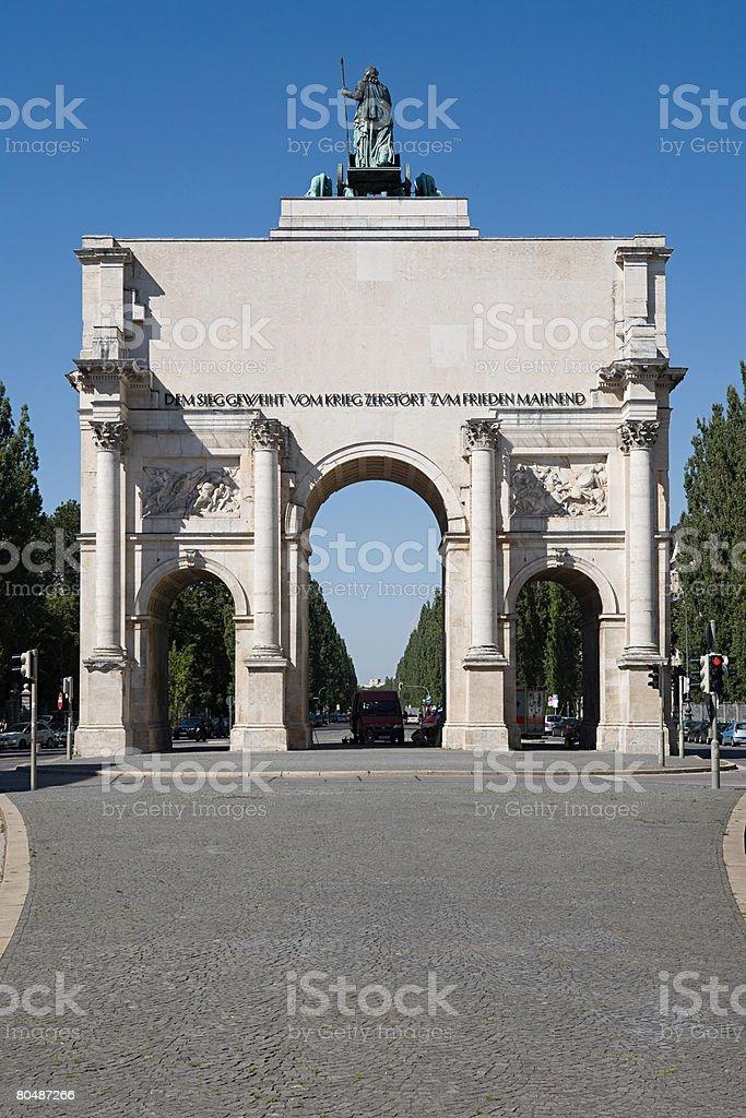 Victory gate munich 免版稅 stock photo