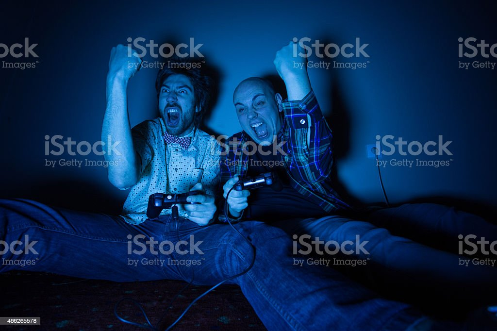 Victory in the game stock photo