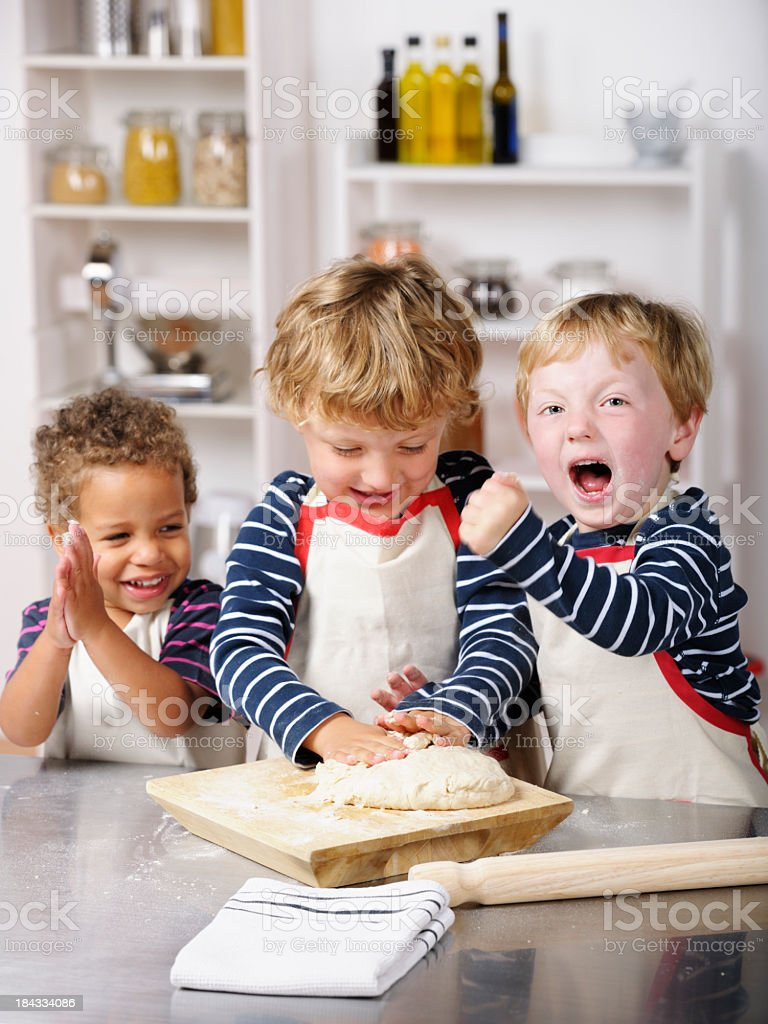 Victory In The Kitchen. royalty-free stock photo