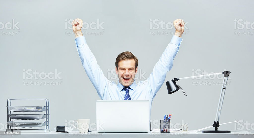 Victory is super sweet! royalty-free stock photo