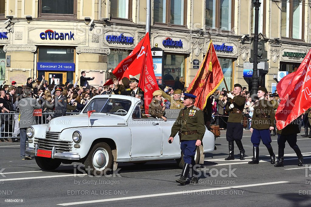 Victory parade in St.Petersburg royalty-free stock photo
