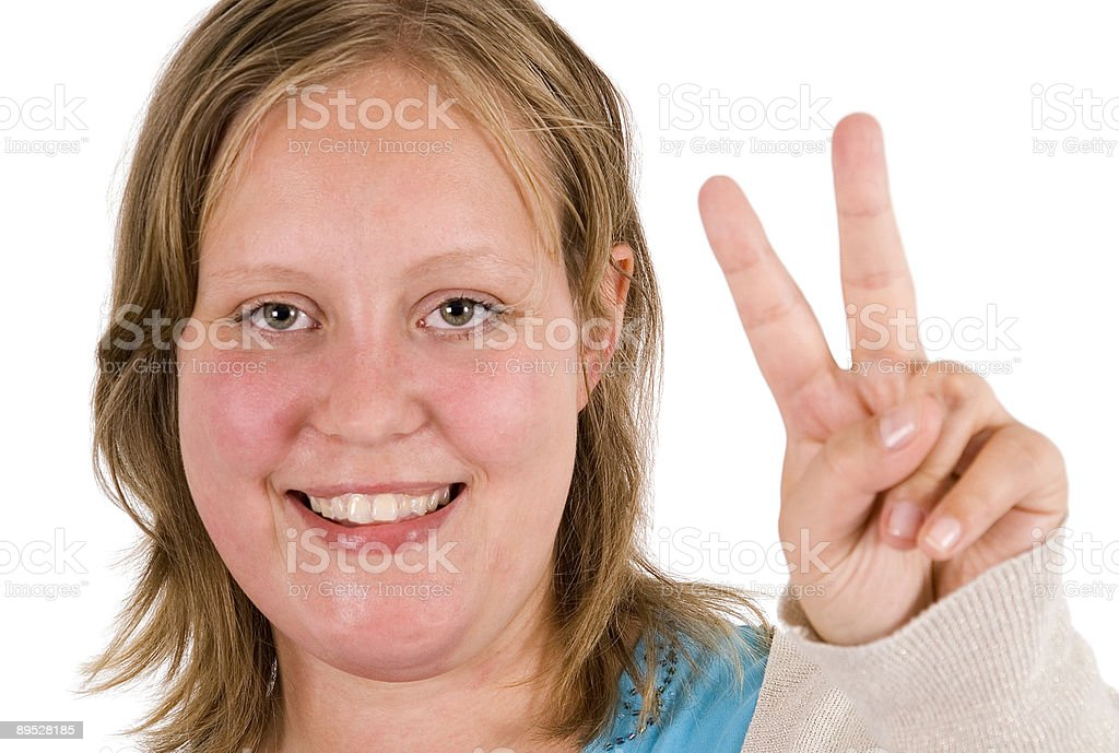 Victory sign royalty-free stock photo