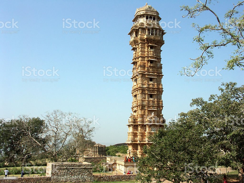 Victory Tower,Chittorgah Fort royalty-free stock photo