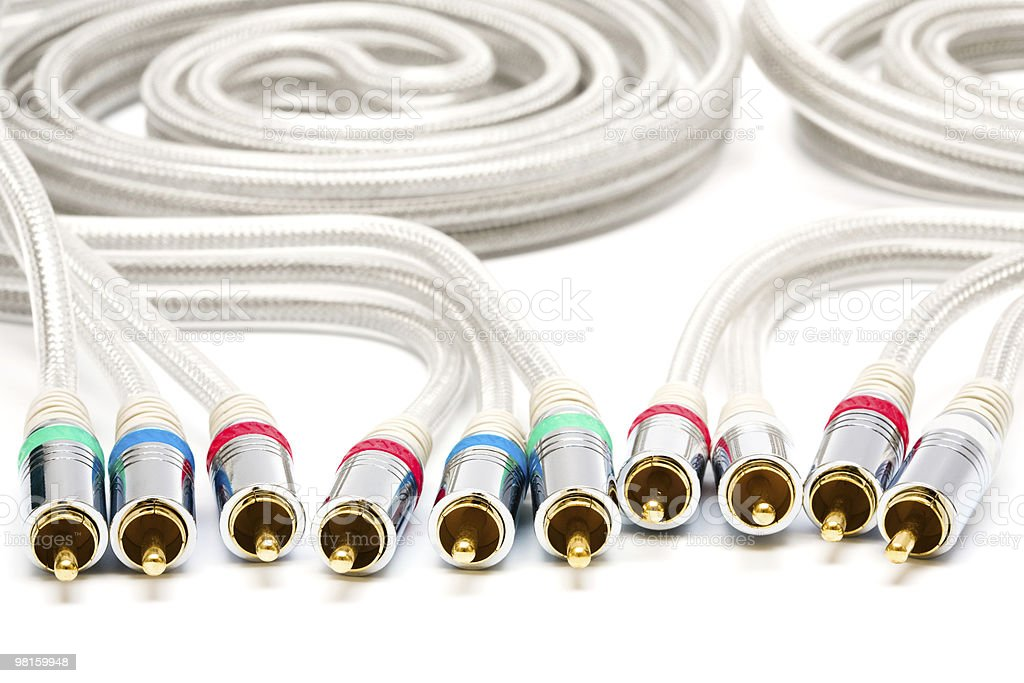 video and audio cable royalty-free stock photo