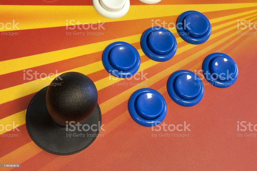Video Arcade Buttons royalty-free stock photo