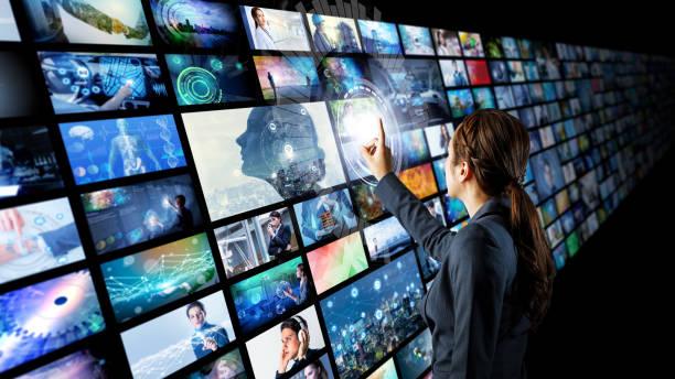 concepto de archivos de video. - biblioteca fotografías e imágenes de stock