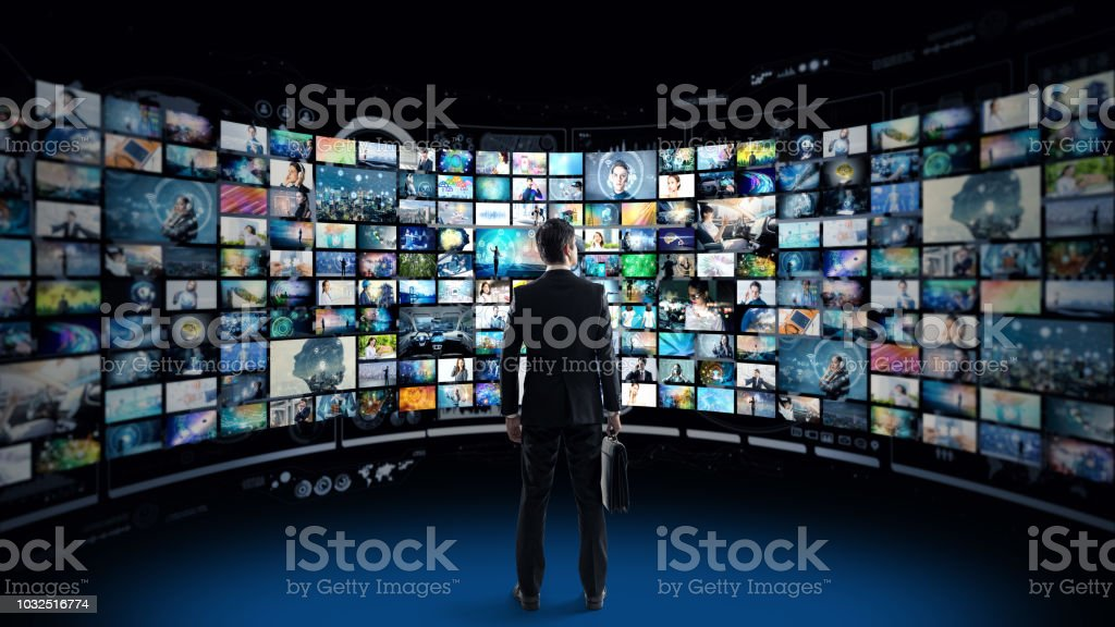 Video archives concept. - foto stock