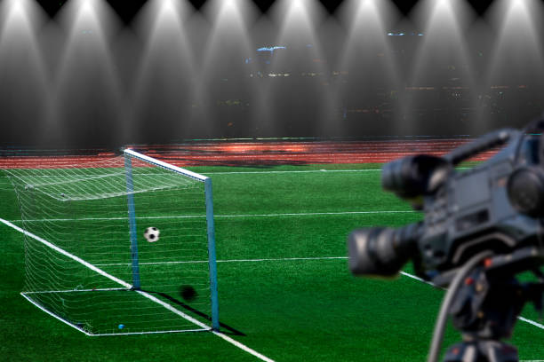 Video Assistant Referee VAR System for football. Video Assistant Referee VAR System for football. var stock pictures, royalty-free photos & images
