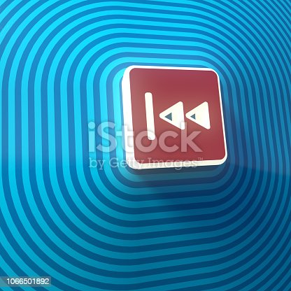 istock Video, audio fast backward double right arrows symbol, button, colorful sign. 3d rendering 1066501892