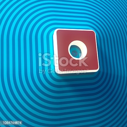 istock Video, audio record symbol, button, colorful sign. 3d rendering 1054744874