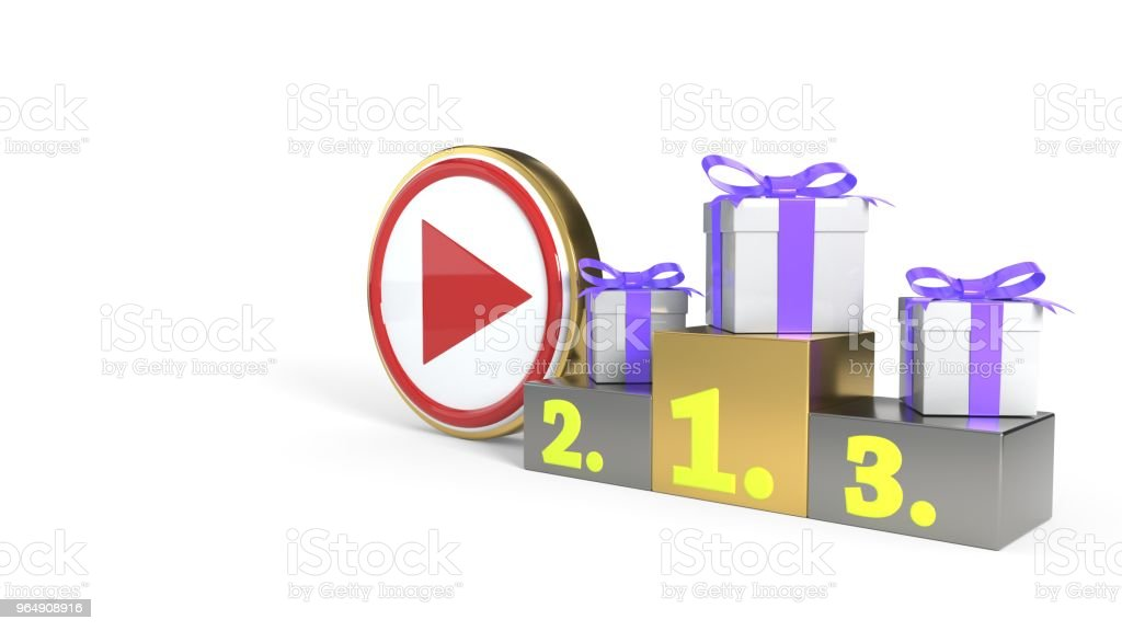 Video boilers winning concept background, 3d rendering royalty-free stock photo
