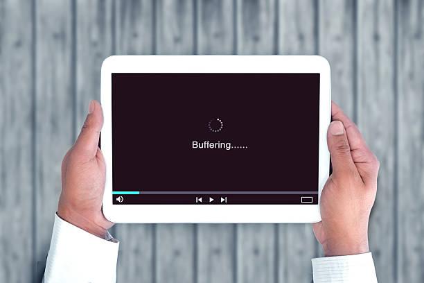 Video buffering stock photo