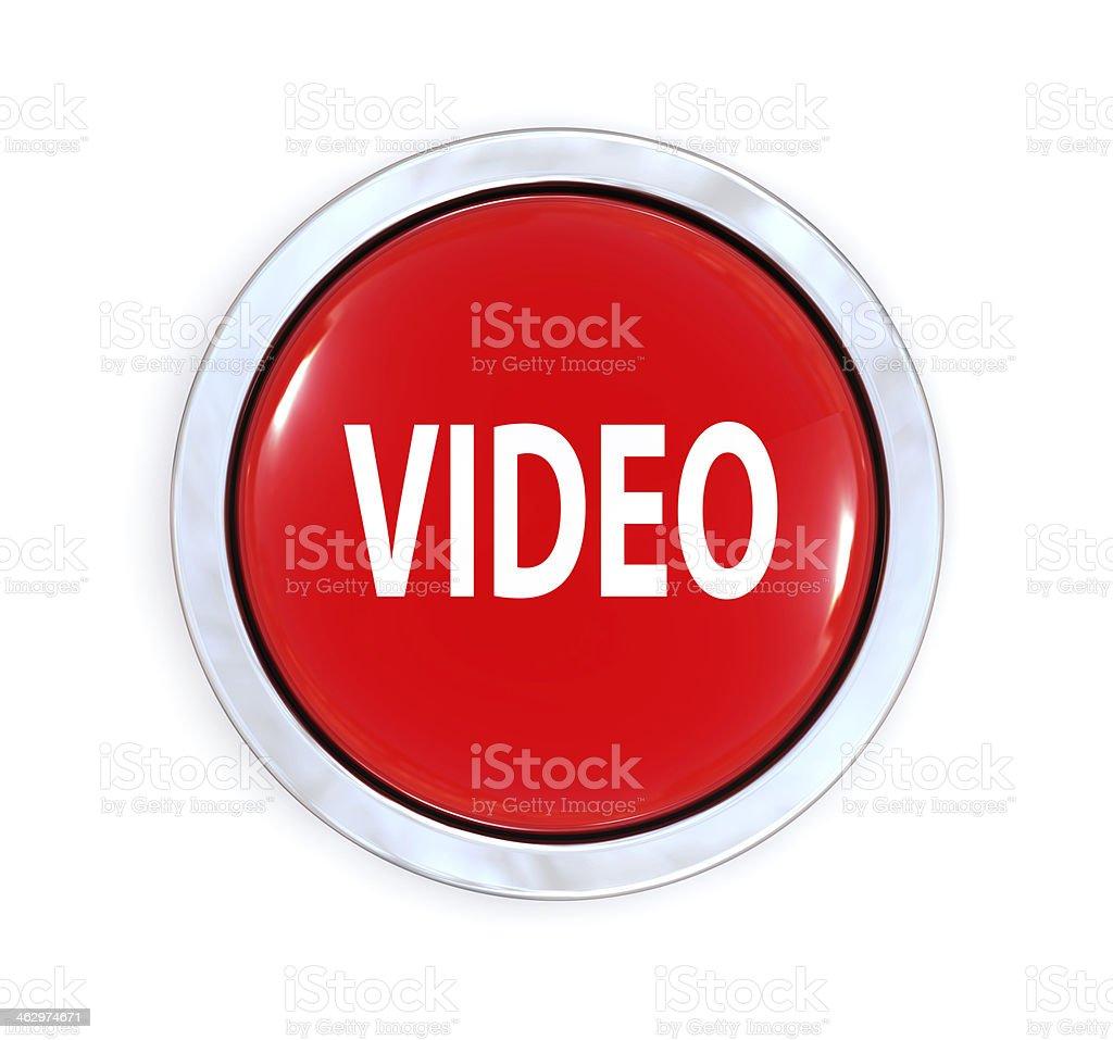 Video Button stock photo