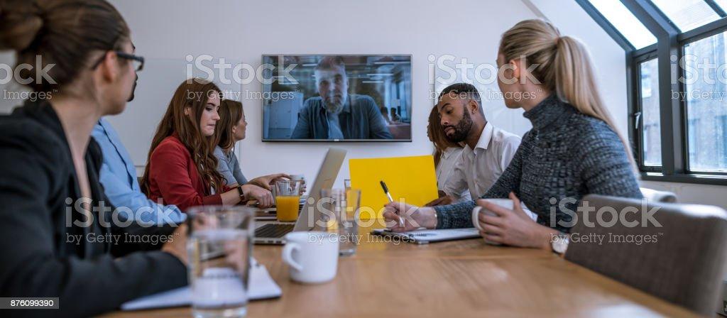 Videoanruf-Konferenz – Foto