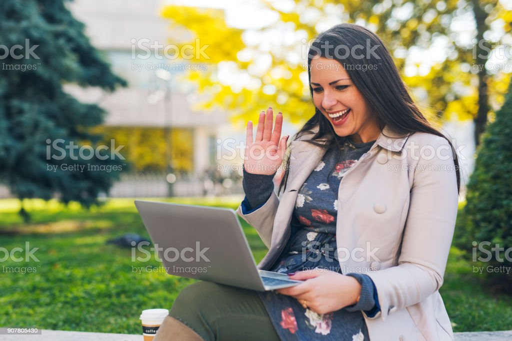 Video call stock photo