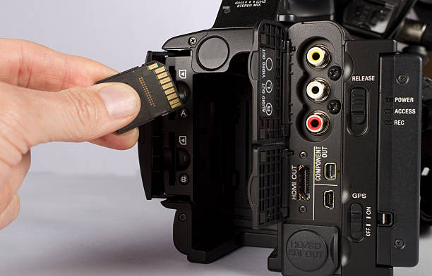 video camera flash card horizontal - memory card stock photos and pictures