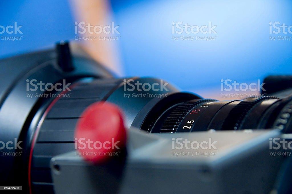 HD видео камеры объектив Диафрагма-относительное отверстие объектива шкала Стоковые фото Стоковая фотография
