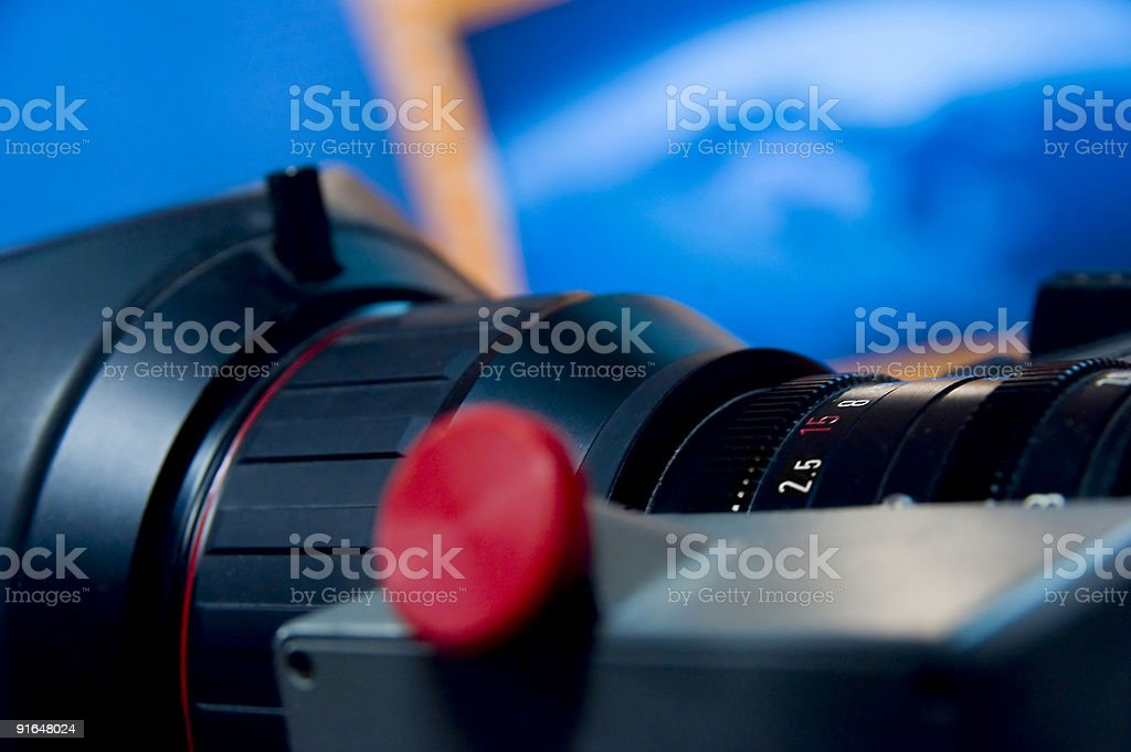HD video camera lens aperture scale royalty-free stock photo