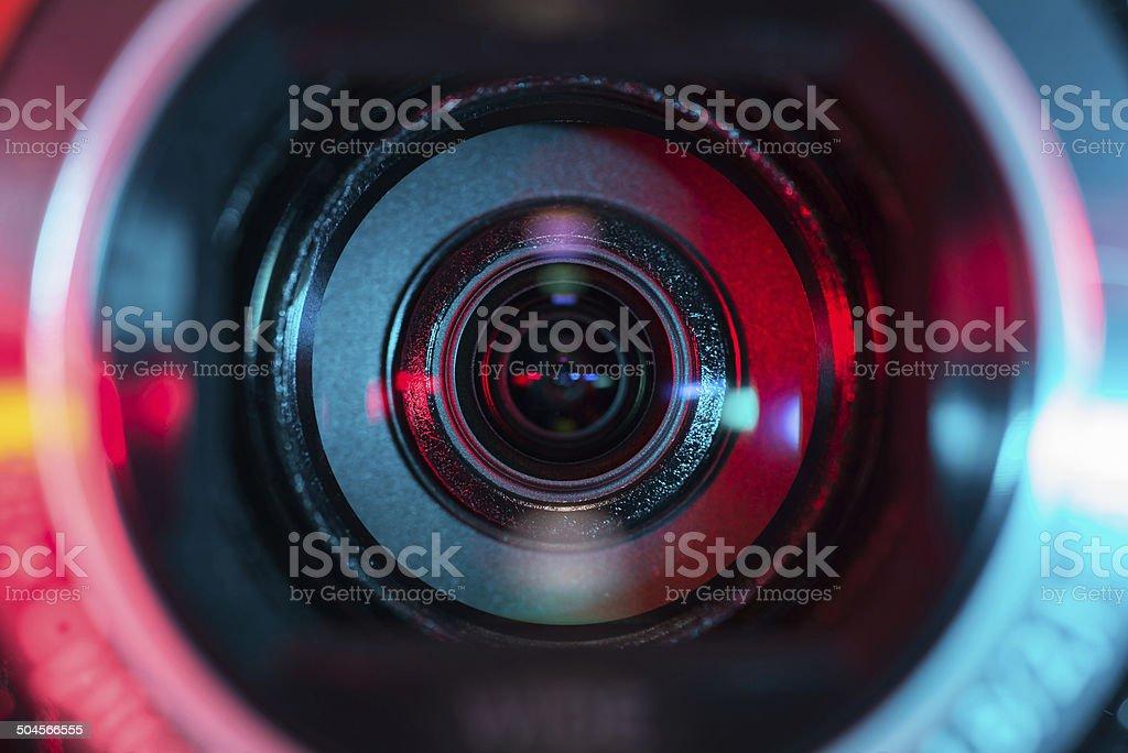 Obiektywu kamery wideo – zdjęcie