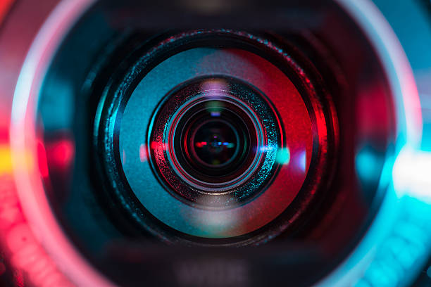video camera lens - camera photographic equipment stock photos and pictures
