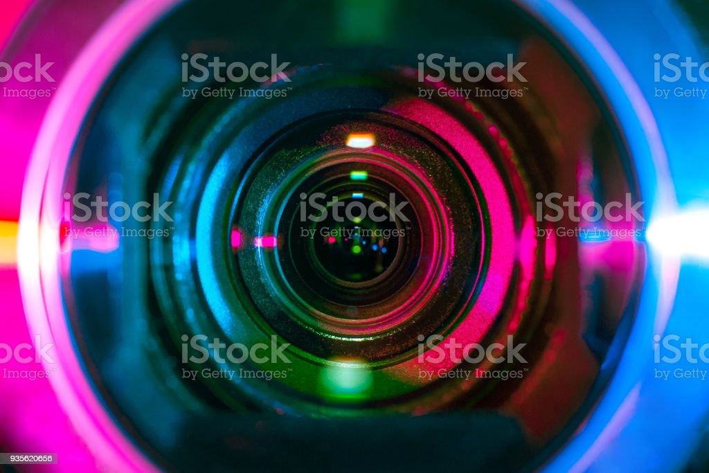 Video camera lens royalty-free stock photo