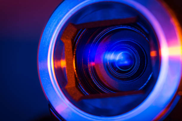 video camera lens - webcam stock photos and pictures