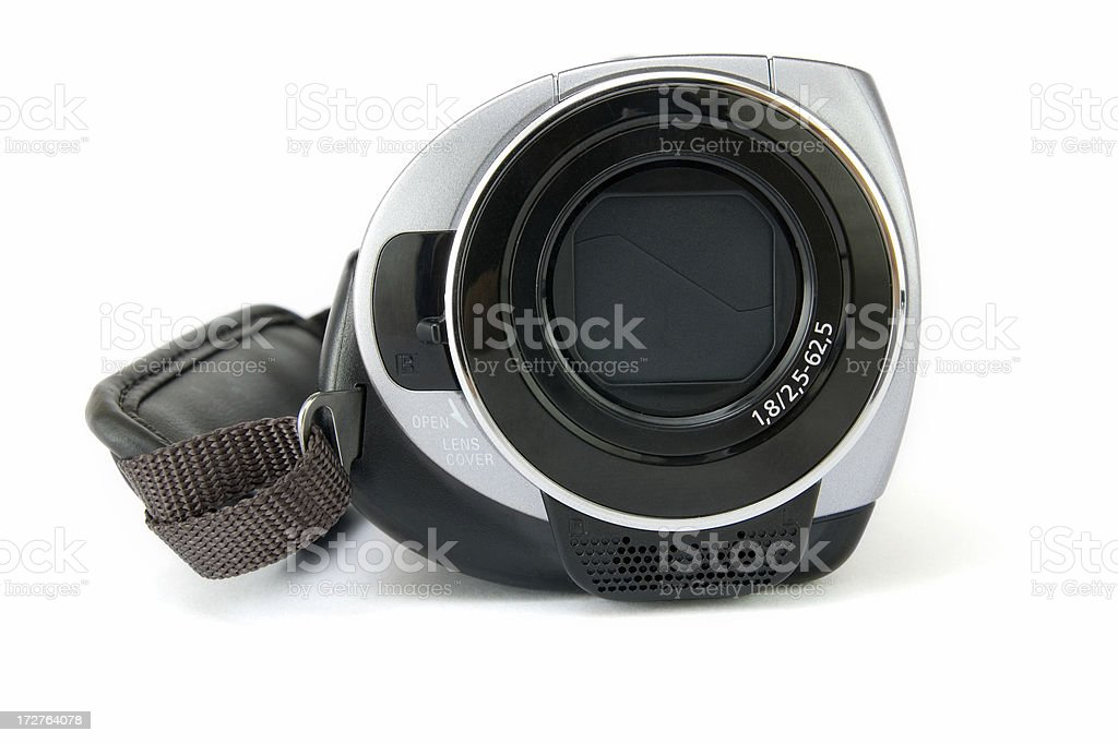Video camera on the white with shadow royalty-free stock photo