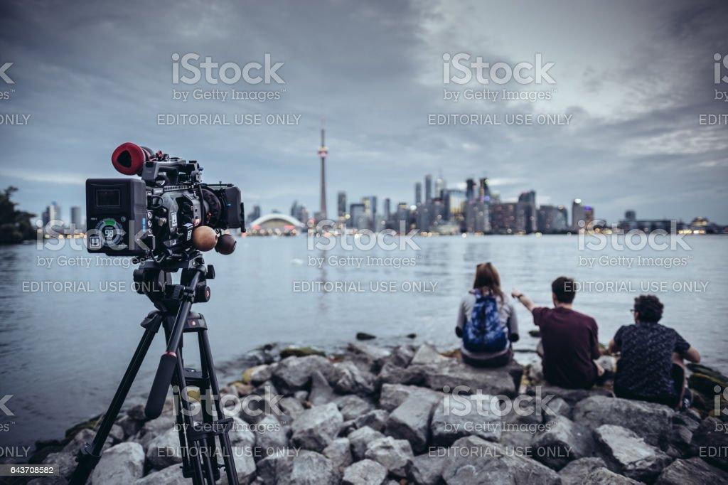 Video camera on Toronto Island stock photo